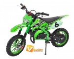 "Mini Cross KXD 708A 10"" 50cc Pull-Start zielony"